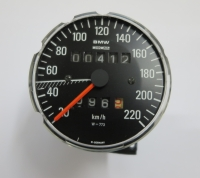 Original BMW Speedometer, W773, used, white numbers, BMW R2V Boxer models
