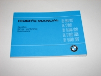 Owners Manual (englisch) BMW R80RT, R100, R100CS, R100RS, R100RT 09/80-09/84