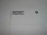 Parts catalog, R2V  BMW  R80GS-R100GS up 91