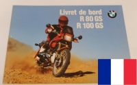 Owners manual (printed in french language)   BMW R80GS R100GS R100GS PD from 08/1990