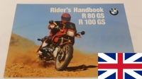 Owners manual (printed in english language)   BMW R80GS R100GS R100GS PD from 08/1990