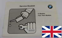 Service booklet ( printed in english language ) BMW motorcycle up to 92