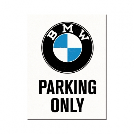 Magnet 6x8cm BMW - Parking Only White