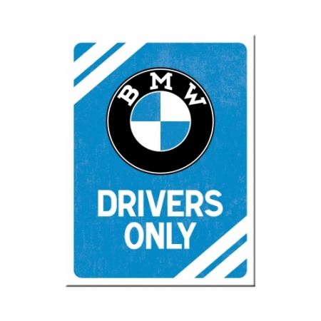 Magnet 6x8cm BMW - Drivers Only Blue