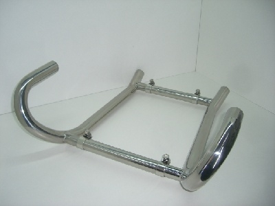 Manifoldset with two crossover pipes 35mm , Stainless Steel, BMW R45/65