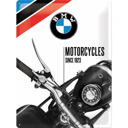 Blechschild 30x40cm BMW - Motorcycles Since 1923