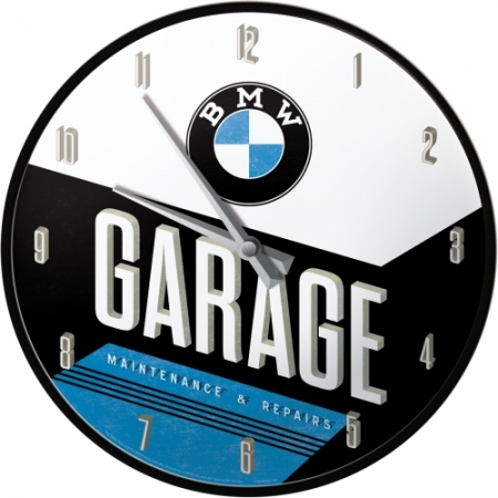 BMW Wanduhr - Garage