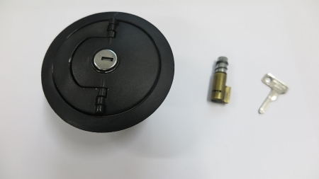 Filler cap and Steering lock with lock cylinder, used, BMW R2V models
