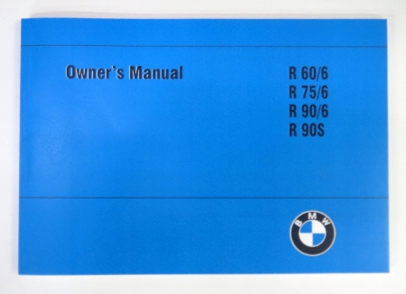 Owner's manual R60/6 R75/6 R90/6 R90S ( in englischer Sprache )
