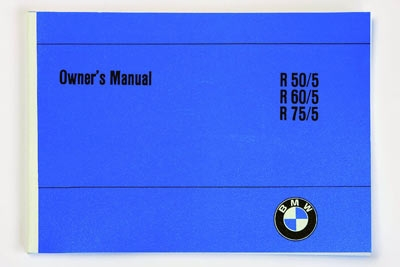 Owners manual  english  BMW R50/5,  R60/5,  R75/5