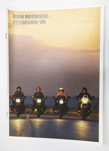 Original BMW brochure - Motorcycle program 89