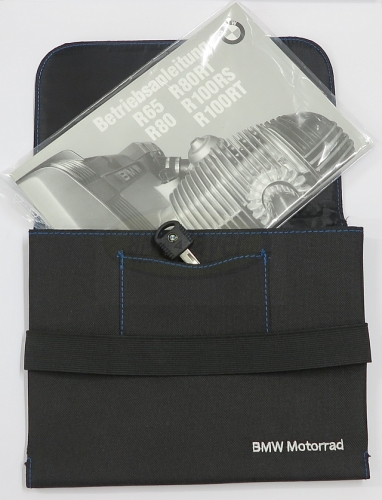 Storage bag, for owners manual and spare keys, BMW motorcycle
