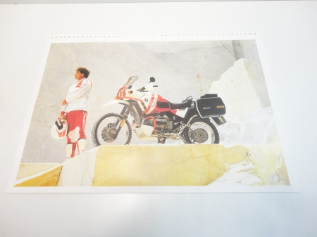 Original BMW Poster-R100GS PD ca. 41x28cm-1989-1