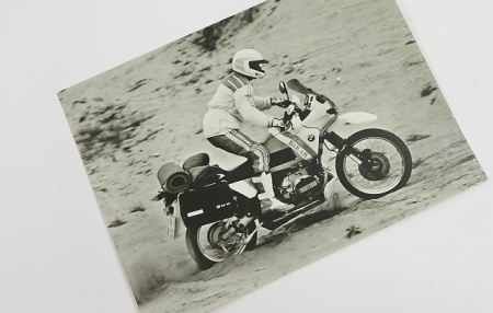 Original BMW factory photos (3 pieces) black and white, BMW R100GS PD 88-90