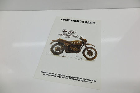 Original BMW Prospekt R80GS Basic Hechlingen