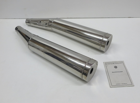 Silencer set stainless, Keihan, used, BMW R2V Monolever models