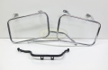 Case holder left and right,chrom with Cross brace, New part, BMW GS Paralever models