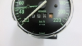 Original BMW Speedometer, W670, overhauled, green numbers, BMW R2V Boxer models